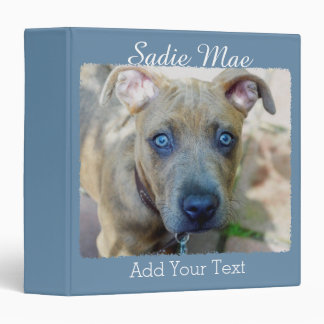 Brindle Pit Bull Puppy by Shirley Taylor 3 Ring Binder