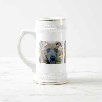 Brindle Pit Bull Puppy by Shirley Taylor Beer Stein