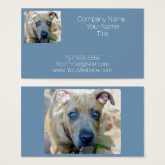 Brindle Pit Bull Puppy by Shirley Taylor Business Card