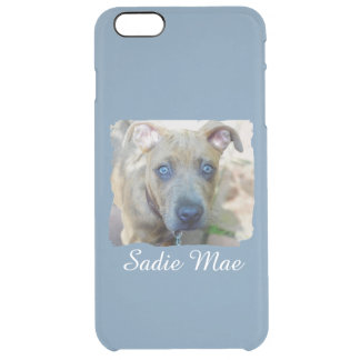 Brindle Pit Bull Puppy by Shirley Taylor Clear iPhone 6 Plus Case