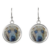 Brindle Pit Bull Puppy by Shirley Taylor Earrings