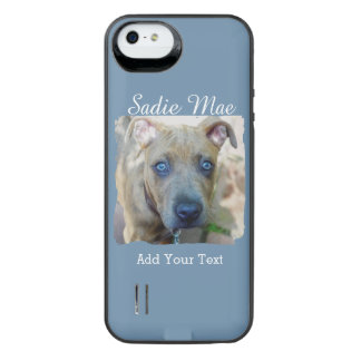Brindle Pit Bull Puppy by Shirley Taylor iPhone SE/5/5s Battery Case