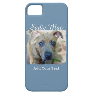 Brindle Pit Bull Puppy by Shirley Taylor iPhone SE/5/5s Case