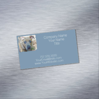 Brindle Pit Bull Puppy by Shirley Taylor Magnetic Business Card