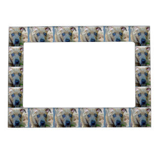 Brindle Pit Bull Puppy by Shirley Taylor Magnetic Frame