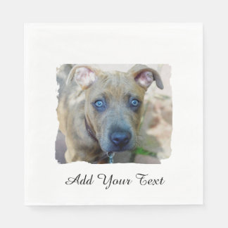 Brindle Pit Bull Puppy by Shirley Taylor Paper Napkin