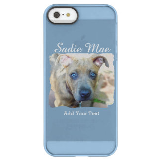 Brindle Pit Bull Puppy by Shirley Taylor Permafrost iPhone SE/5/5s Case