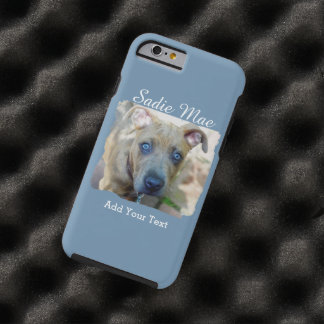 Brindle Pit Bull Puppy by Shirley Taylor Tough iPhone 6 Case