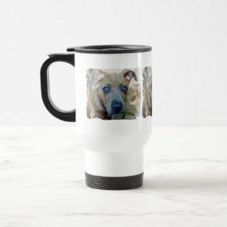 Brindle Pit Bull Puppy by Shirley Taylor Travel Mug