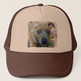 Brindle Pit Bull Puppy by Shirley Taylor Trucker Hat