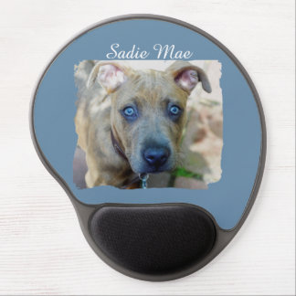 Brindle Pit Bull Puppy Gel Mouse Pad