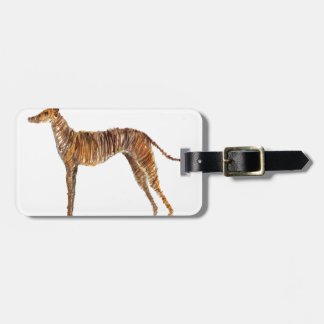 Brindle Watercolour Abstract Painting of Greyhound Luggage Tag