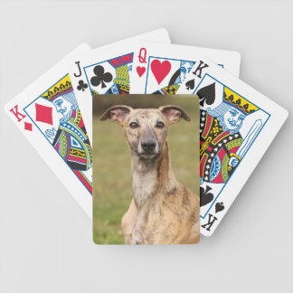 Brindle Whippet Playing Cards