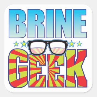 Brine Geek v4 Square Sticker