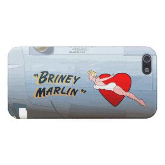 Briney Marlin B-24 Nose Art (Vintage Fuselage) iPhone SE/5/5s Case