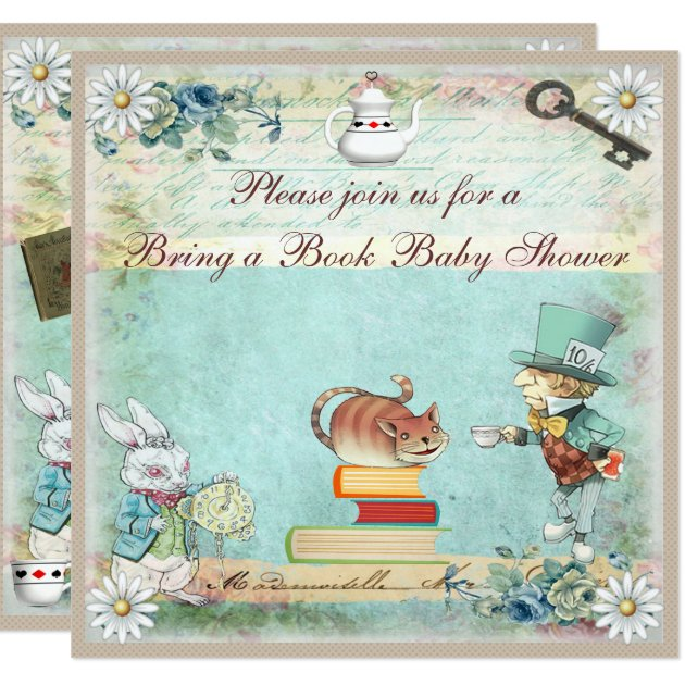 vintage wonderland baby shower card – unitedarmy,