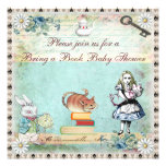 Bring a Book Alice in Wonderland Baby Shower Personalized Invites