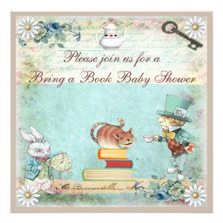 Bring a Book Alice in Wonderland Baby Shower Invitation