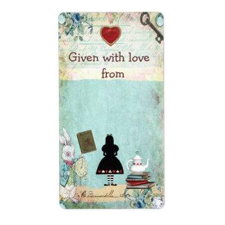 Bring a Book Alice in Wonderland Bookplates Label