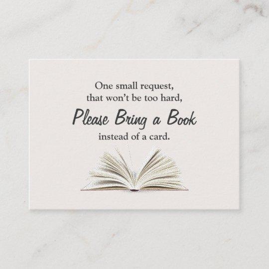 Bring A Book Baby Shower Book Request Insert Zazzle