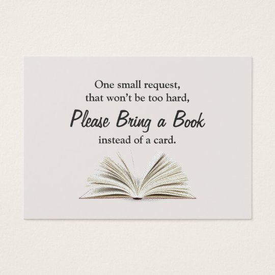 Bring A Book Baby Shower Book Request Insert Zazzle