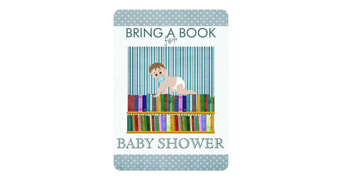 bring a book baby shower card zazzle