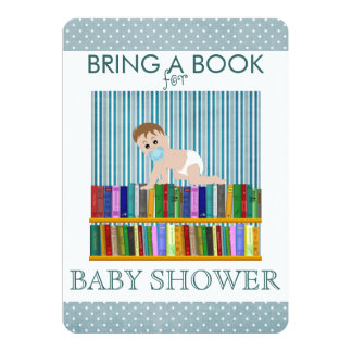 Bring a Book Baby Shower Card
