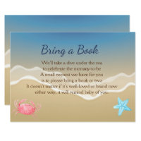 Ocean theme baby shower invitations announcements zazzle bring a book baby shower card beach theme filmwisefo Image collections