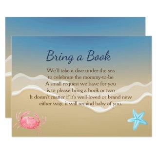 Bring A Book Baby Shower Card  Beach Theme Card