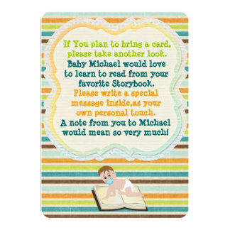 52 baby shower book request invitations baby shower book request