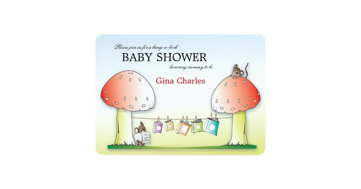 bring a book baby shower invitation zazzle