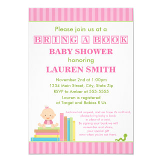 Bring A Book Baby Shower Invitation 5x7 Card