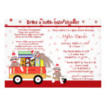 Bring a book baby shower invitation sock monkey