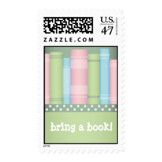 Bring a Book - Baby Shower Postage Stamps