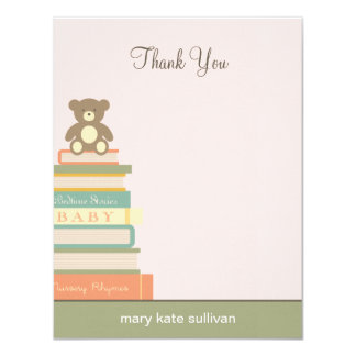Bring A Book Baby Shower Thank You Cards (Pink)