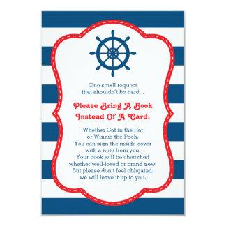 Bring A Book Card, Ahoy, Nautical, Baby Shower Card
