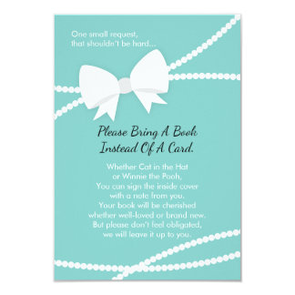Bring A Book Card, Baby Shower, Tiffany Blue Card