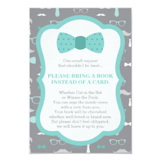 Bring A Book Card, Little Man, Baby Shower Card