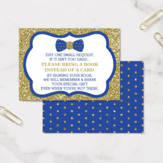 Bring A Book Card, Little Man, Bow Tie Business Card