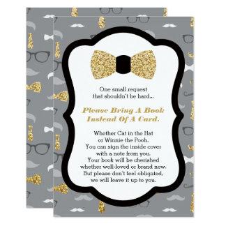 Bring A Book Card, Little Man, Faux Glitter Card