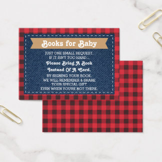 Bring A Book Card, Little Man, Lumberjack Business Card