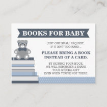 Bring A Book Card, Little Man, Teddy Bear Enclosure Card
