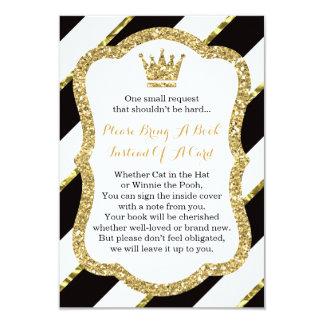 Bring A Book Card, Little Prince, Faux Glitter Card
