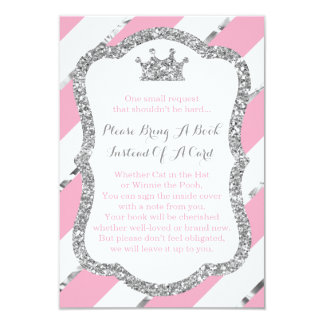 Bring A Book Card, Little Princess, Faux Glitter Card