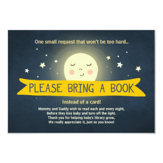 Bring a book card To the moon and back Baby Shower