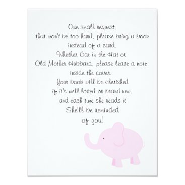 Toddler & Baby themed Bring a Book for a Baby Shower Card