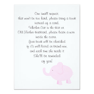 Bring a Book for a Baby Shower 4.25x5.5 Paper Invitation Card