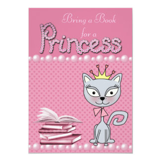 Bring a Book for a Princess Baby Shower Invitation