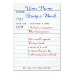 Bring a book insert card