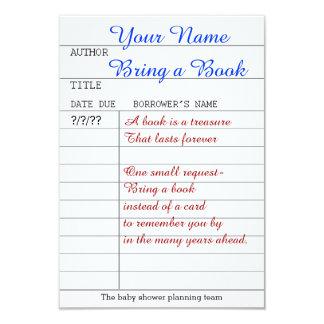 """Bring a book insert 3.5"""" x 5"""" invitation card"""